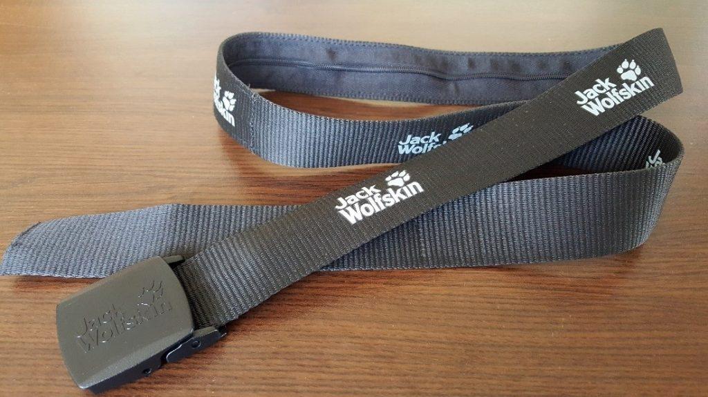 Jack Wolfskin belt with hidden pocket
