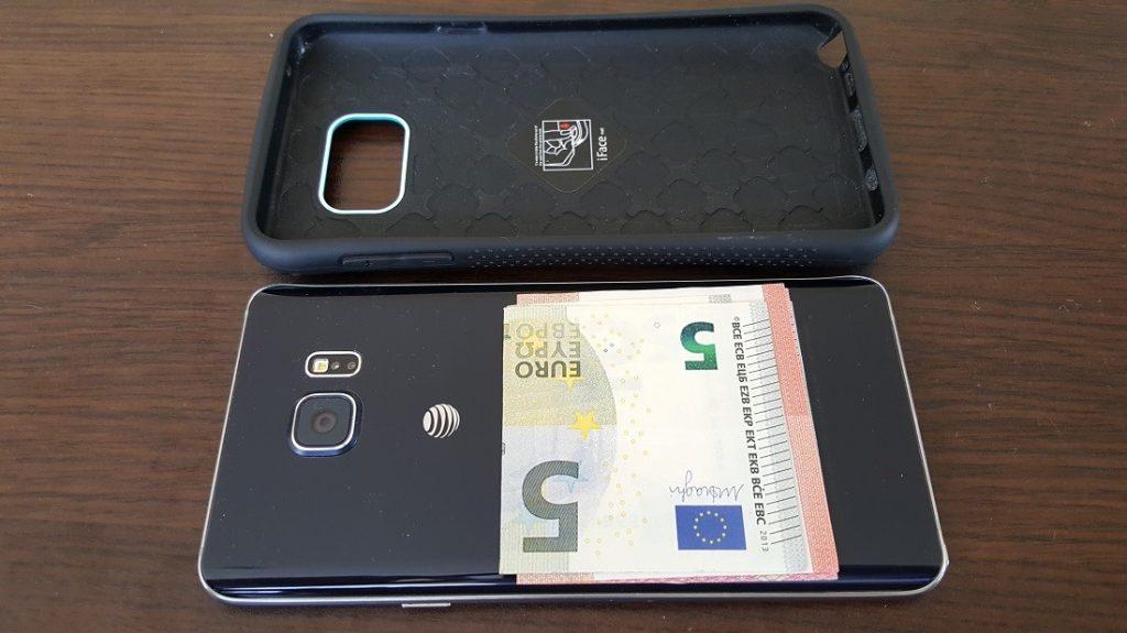 Samsung case with cash