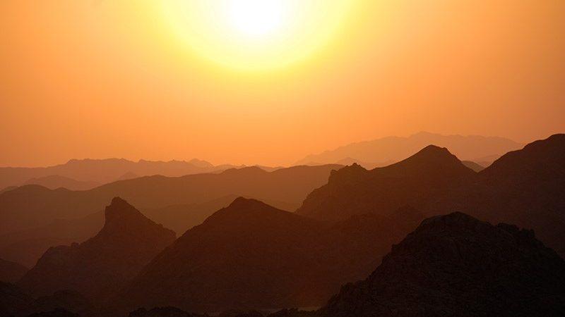 Apus de soare deasupra peninsulei Sinai